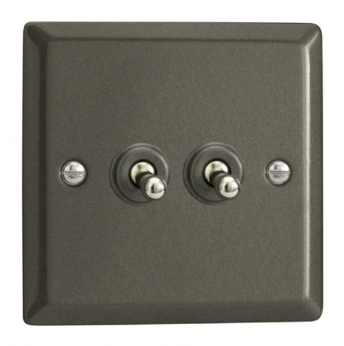 Varilight XPT2 Classic Graphite 21 2 Gang 10A 1 or 2 Way Toggle Light Switch